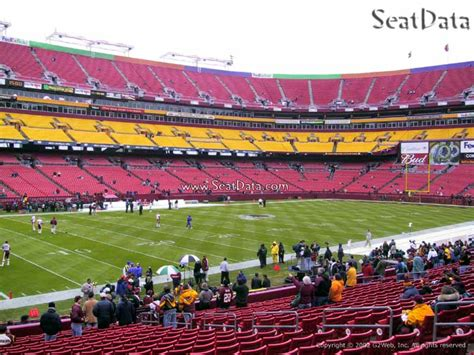 view fedex field seats section 38 fedexfield section 105 rateyourseats