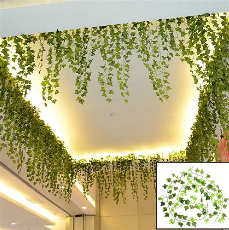 artificial flower decoration for home boston artificial leaf garland plant vine foliage
