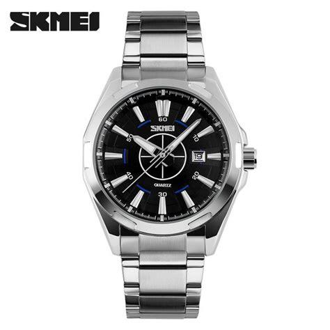 Jam Tangan Casual Skmei Tahan Air jual jam tangan pria skmei analog casual stainless