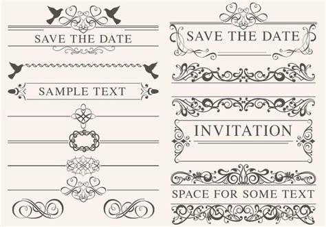 wedding invitation ornaments vector vintage wedding ornament vectors free vector stock graphics images