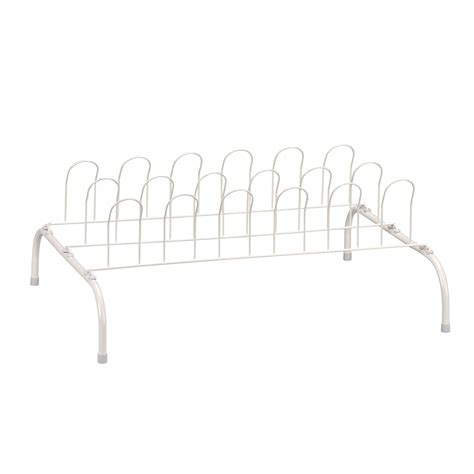wire shoe rack household essentials 9 pair wire shoe rack white new