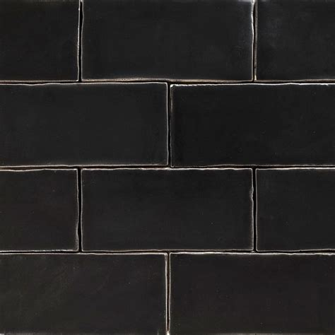 handmade black matt natura wall subway tiles 130 215 65 in