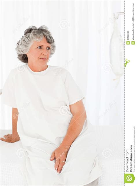 cancer woman in the bedroom sad woman in her bedroom royalty free stock photos image