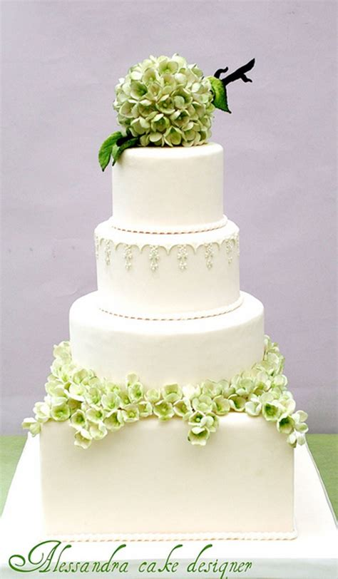 hydrangea cake green modern hydrangea wedding cake wedding cake cake ideas by prayface net