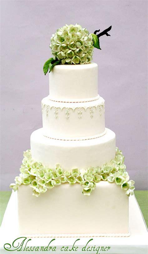 hydrangea cake green modern hydrangea wedding cake wedding cake cake