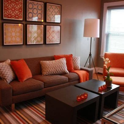 brown and orange living room living room brown and orange design pictures remodel