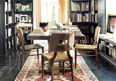 peter dunham blue hydrangea dining by books