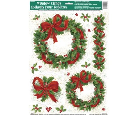 28 best large christmas window clings 54 snowflake