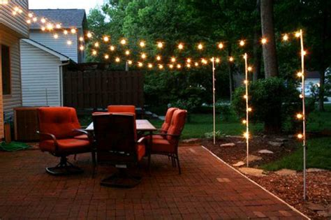 Backyard Lights Add Party String Lighting To Your Backyard Outdoor Patio Lighting Ideas Pictures