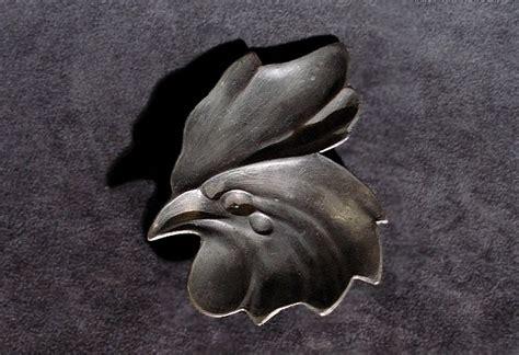 testa di gallo testa di gallo posacenere in peltro grazzano visconti