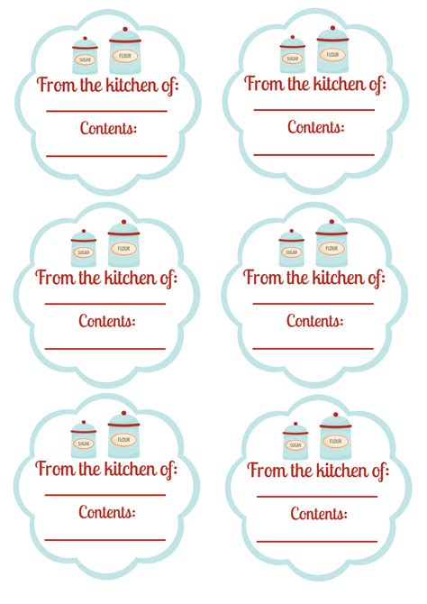 printable gift jar labels 7 best images of free printable food gift labels
