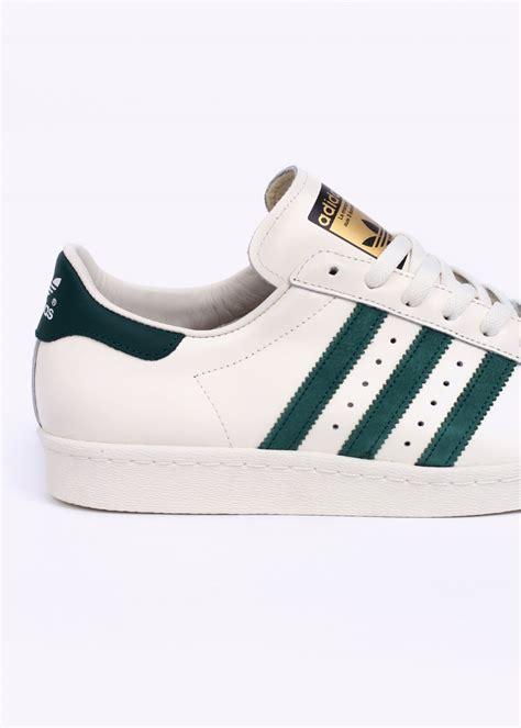 Adidas Superstar Cowok Premium White 1 adidas originals superstar 80s vintage deluxe trainers