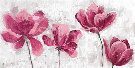 cuadro con flores cuadros de flores modernos rosas texturas para salones y
