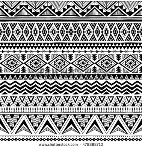 tribal pattern black and white tribal striped seamless pattern geometric blackwhite stock
