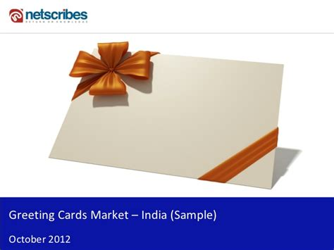 Gift Card In India - market research report greeting cards market in india 2012