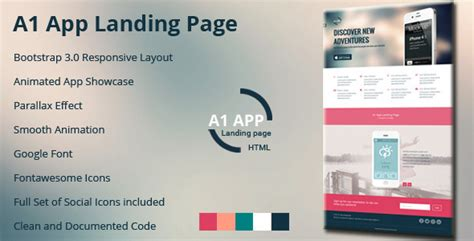 themeforest app landing page a1 app landing page by theweblab themeforest