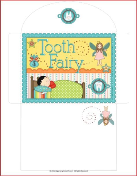 printable fairy envelope tooth fairy printables organizing homelife