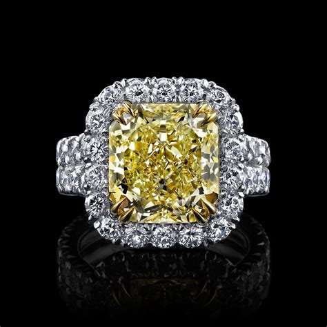 Micro House by Internally Flawless Natural Yellow Diamond Radiant