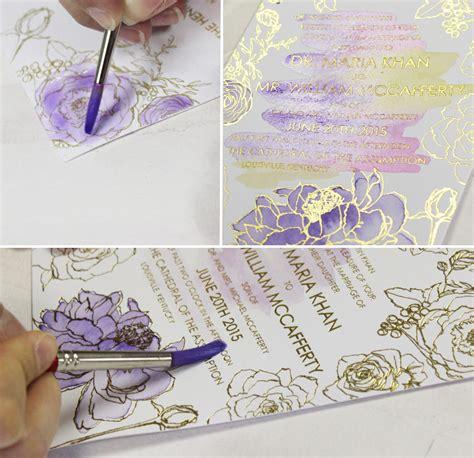 Wedding Invitations Watercolor by A Peek Into The Studio Purple Glam Watercolor Wedding
