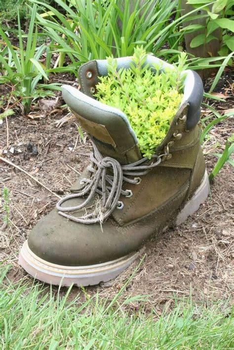 31 shoe and boot planter ideas photos