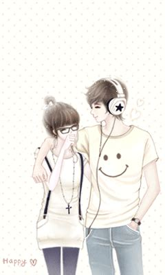 wallpaper gambar couple trend fashion korea terbaru gambar kartun korea sweet