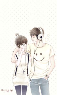 wallpaper animasi couple trend fashion korea terbaru gambar kartun korea sweet
