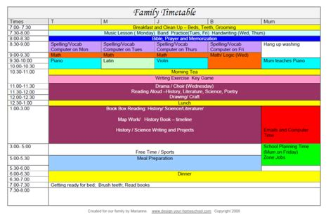 homeschool schedule how to make your home school schedule