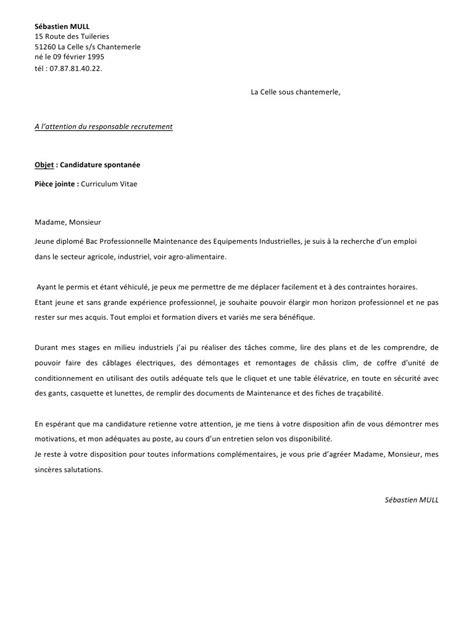 Exemple De Lettre Administrative Avec Pièce Jointe Lettre Motivation Et Cv Oct 201 Par Maman Lettre