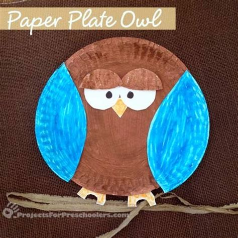 Paper Plate Owl Craft - a glimpse inside 30 owl project ideas