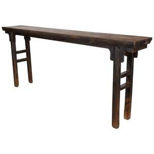 Narrow Console Table Uk Narrow Console With Thick Elm Top At 1stdibs