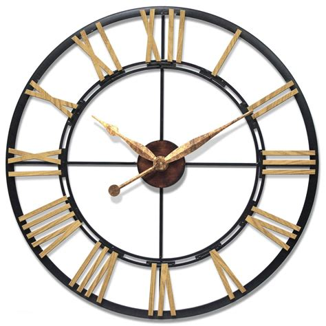 giant wall clock total fab oversized giant metal wall clocks