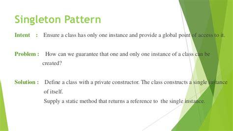 singleton pattern types design pattern presentation