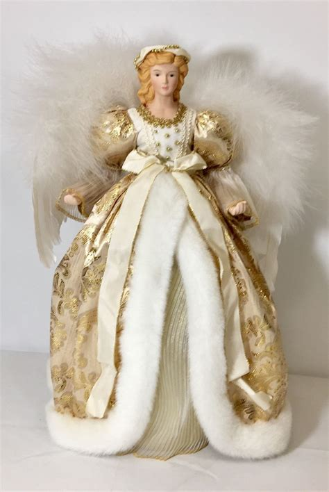 16 genuine porcelain angel christmas tree topper beautiful
