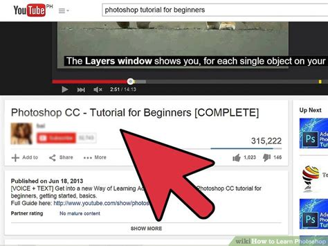 photoshop cc tutorials learn how to use adobe systems how to learn photoshop 7 steps with pictures wikihow