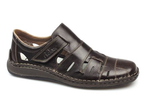 mens wide sandals rieker antistress karachi mens wide fit sandals brown