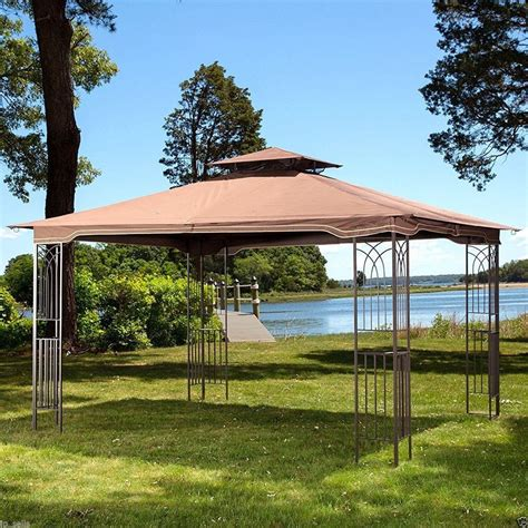 Patio Canopy Gazebo Tent Outdoor Garden Patio Gazebo Metal Frame Canopy Mosquito Netting Wedding Tent Ebay