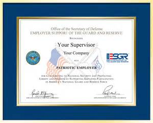 Mock Certificate Template by Employer Support Of The Guard And Reserve Gt Employer