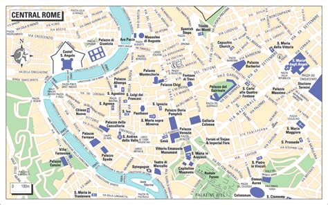 rome map tourist attractions maps update 21051489 map of rome showing tourist