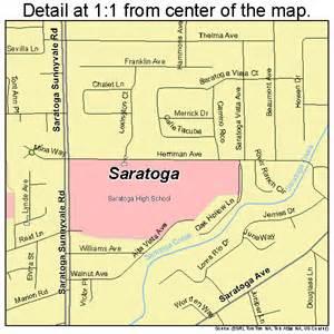 map of saratoga california saratoga california map 0670280