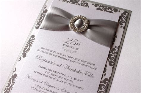 silver wedding anniversary invitations templates 25th silver wedding anniversary invitations 25th wedding