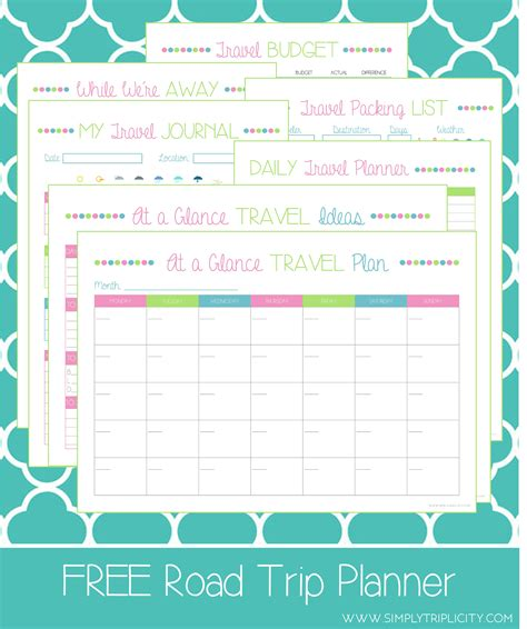 printable journey template printable route planner printable planner template