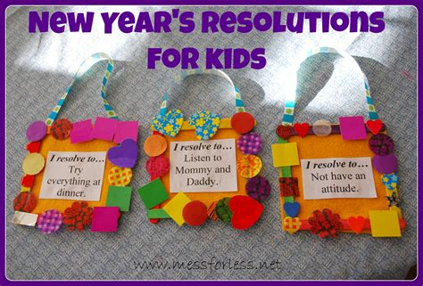 new year crafts for preschoolers 2015 new year s resolutions for mess for less