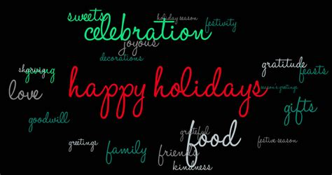 happy holidays animated text word stock footage video  royalty   shutterstock