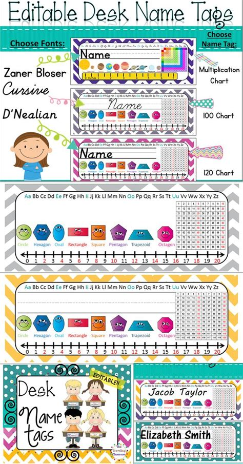 student name tags for desks colors name labels and desks on pinterest