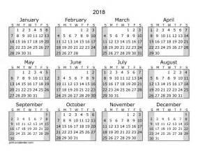 Calendar 2018 Yearly Printable Calendar 25 Free Professional Calendar
