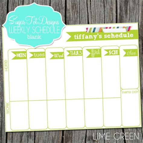 printable calendar custom dates personalized weekly schedule weekly scheduler weekly