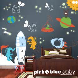 Space Wall Stickers Kids Wall Decals Outer Space Removable Wall By Pinknbluebaby