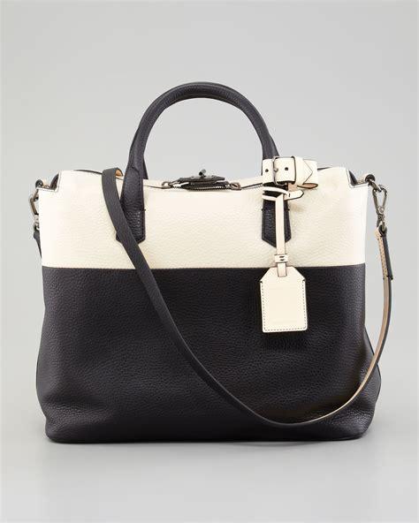 7886 Black White Tote Bag lyst reed krakoff i colorblock tote bag in black