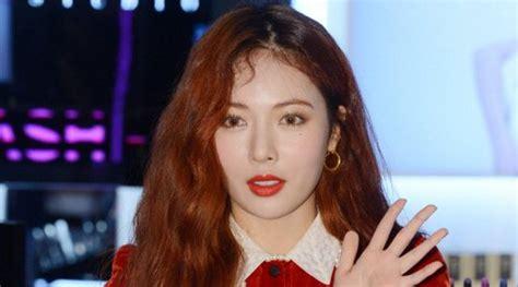 Model Rambut Hyuna 4minute by Jadi Simbol Hyuna Pose Menggoda Di Sul