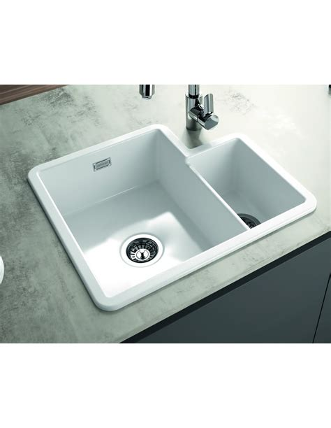 Ceramic Inset Sink by Metro By Thoms Denby Met1010 1 3 Bowl Ceramic Sink